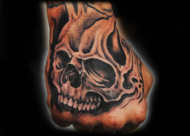 Skull Tattoo On Hand Tattoo Picture