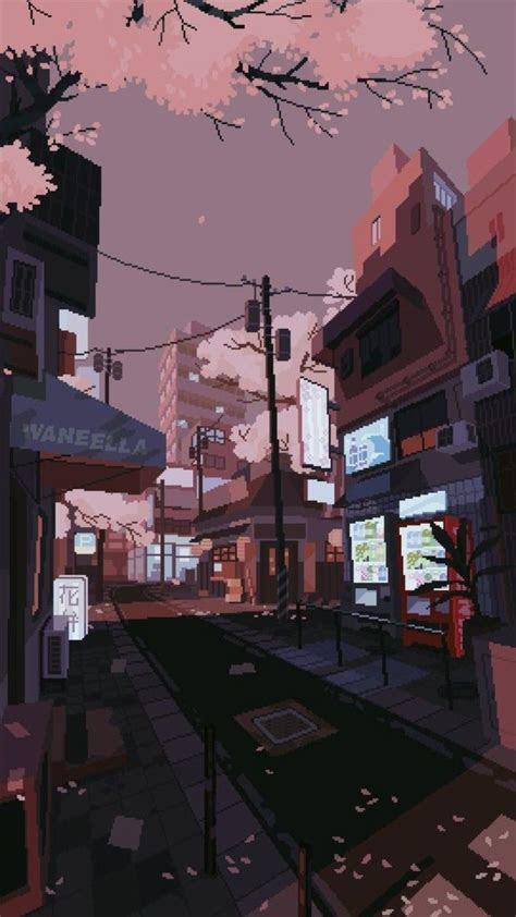 sakura streets   aesthetic art aesthetic