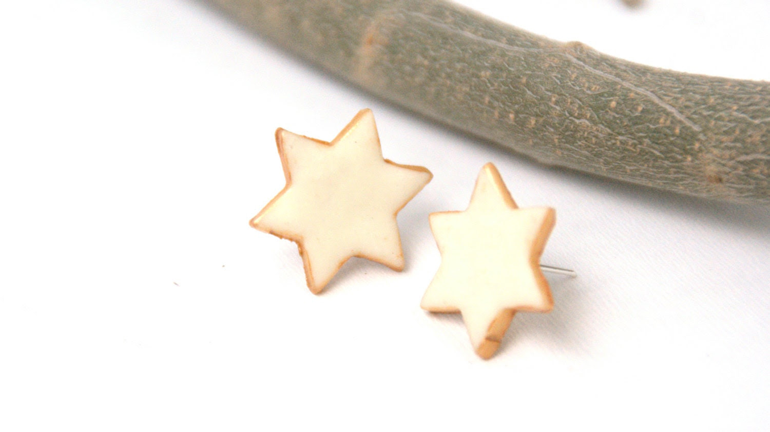 Star Earrings, Polymer Clay  Studs - pcpcreations