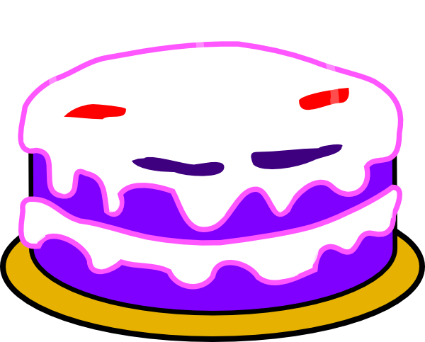 Birthday Cake Clip Art No Candles
