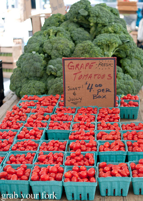 grape tomatoes at union square greenmarket farmers market nyc new york usa