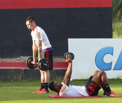 Pará - Flamengo - treino Ninho do Urubu (Foto: Fred Gomes)