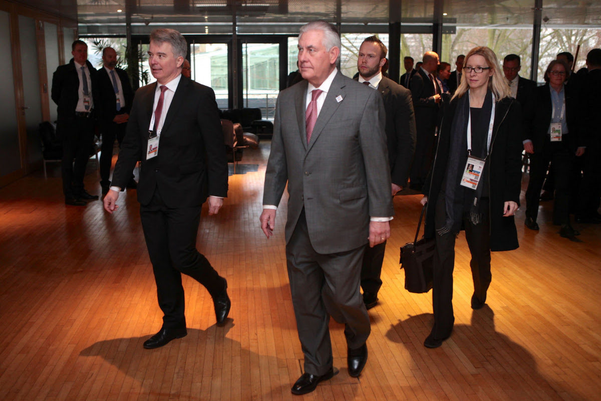 Secretary of State Rex Tillerson at the G-20 Foreign Ministers' Meeting in Bonn, Germany. Flickr/Department of State