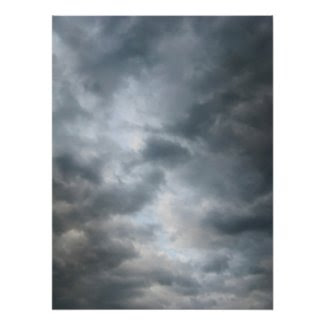 Storm Clouds Breaking Perfect Poster