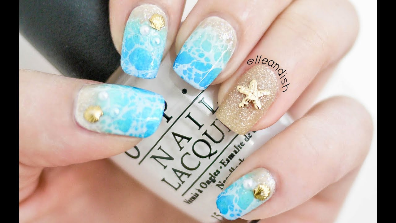 Water Spotted Beach Nails (2 Ways!) - YouTube