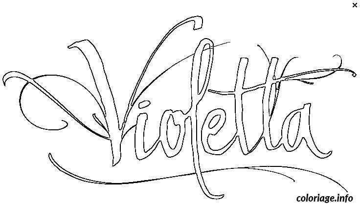 Coloriage Logo De Violetta Jecoloriecom
