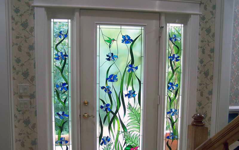 0585 stained glass window film