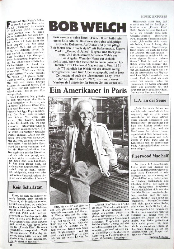 Vinyl Album Bob Welch Three Hearts Capitol Germany