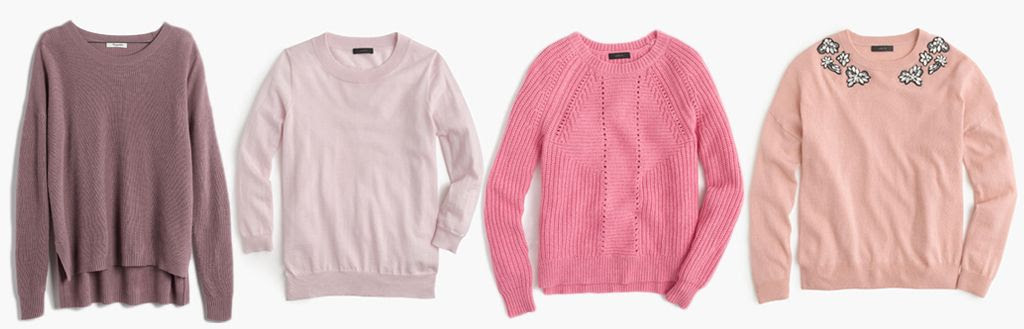 blush sweater options