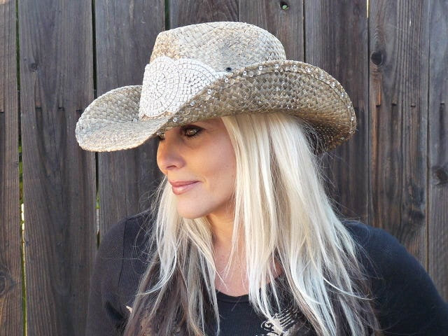 Distressed bling cowboy hat - Timetwochange