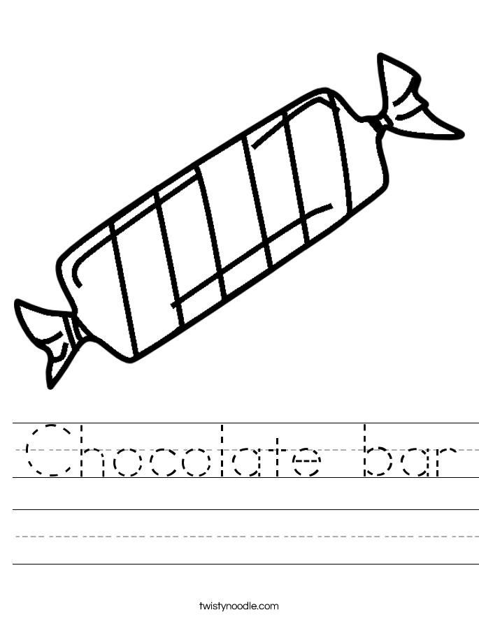 Chocolate bar Worksheet - Twisty Noodle