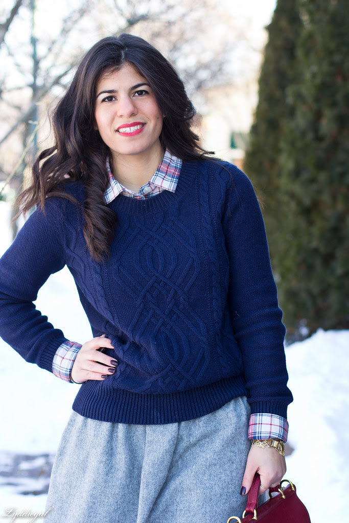 wool skirt - navy sweater.jpg