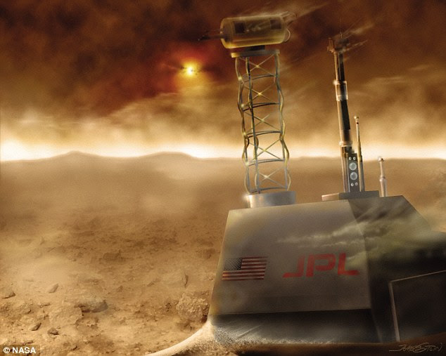 On Mars, spacecraft have to content with intense conditions such as dust storms and radiation. Illustrated is one of Nasa's Viking landers, which touched down in 1976