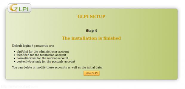GLPI User Login Details