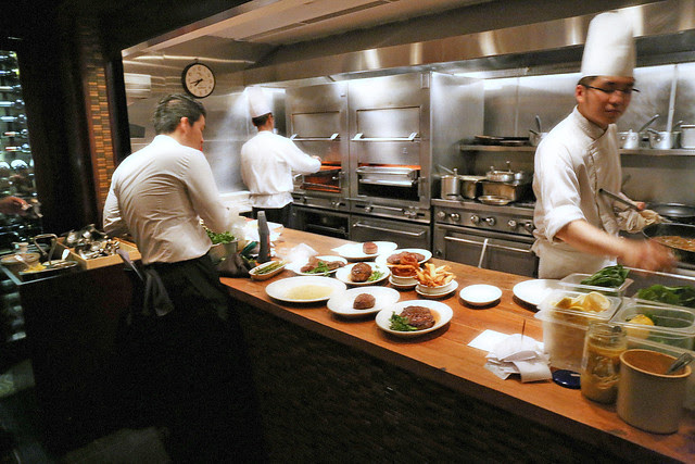 The kitchen at Morton's