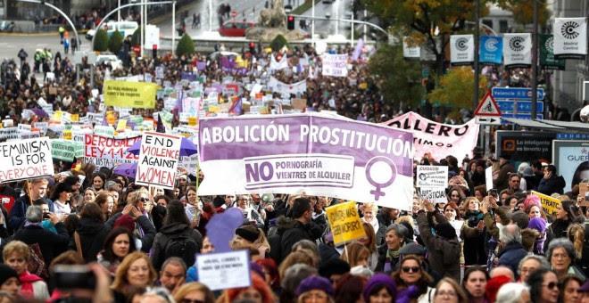 Movilización en Madrid para pedir el fin de la violencia de género y de la prostitución EFE