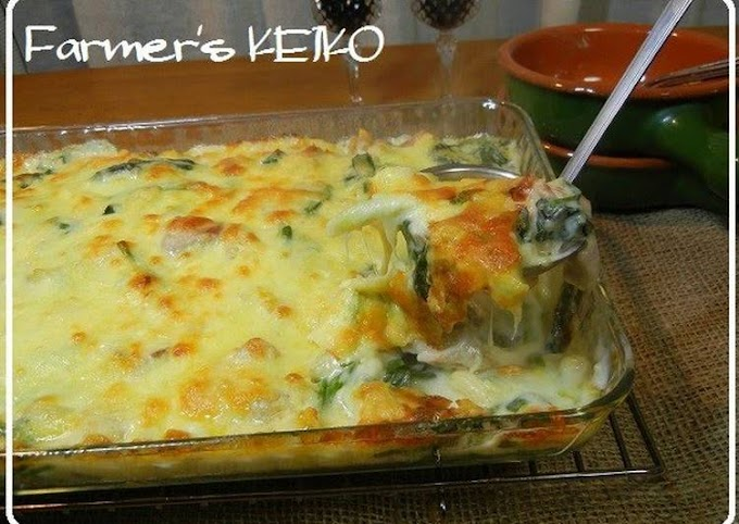 Recipe of Ultimate Substantial Macaroni Au Gratin with Spinach