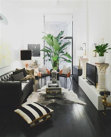 living room inspiration black leather sofa black