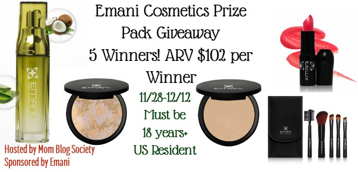Emani Cosmetics Prize Pack Giveaway