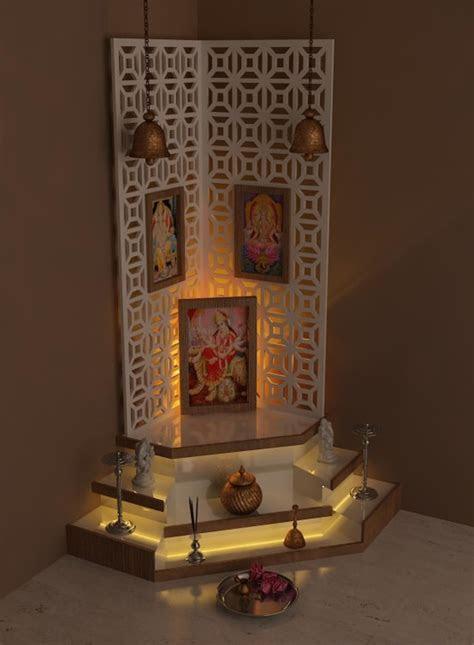 beautiful pooja room lighting ideas