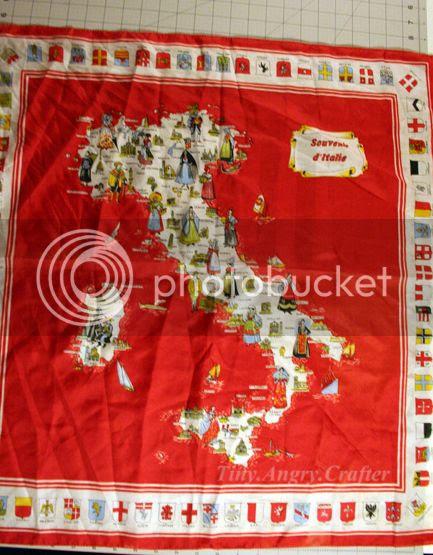 vintage Italian souvenir scarf