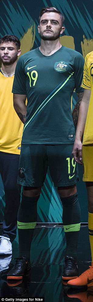 Australia have opted for bold designs on their home and away World Cup strips