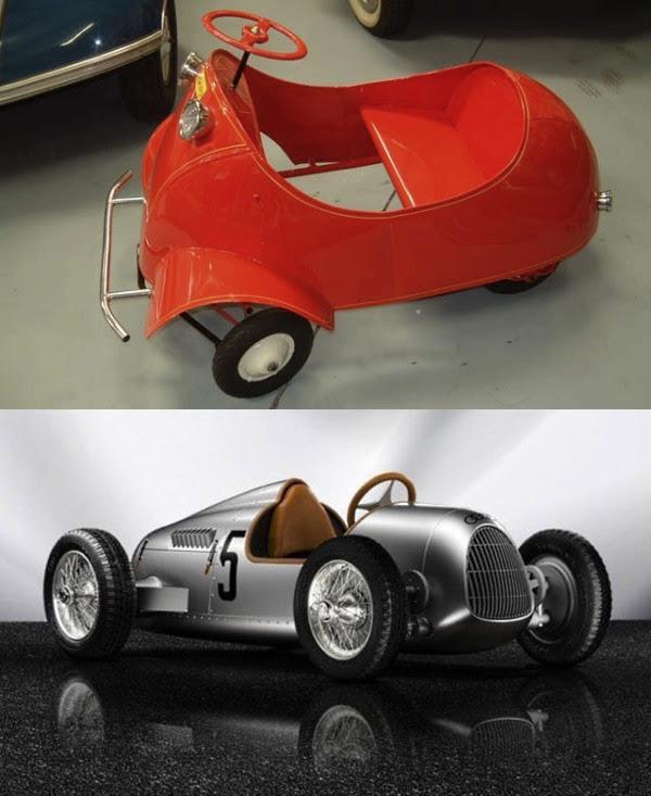8 - Carros a tração humana Messerschmitt e Audi