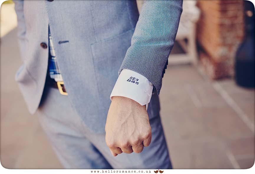 Groom's cufflinks - www.helloromance.co.uk