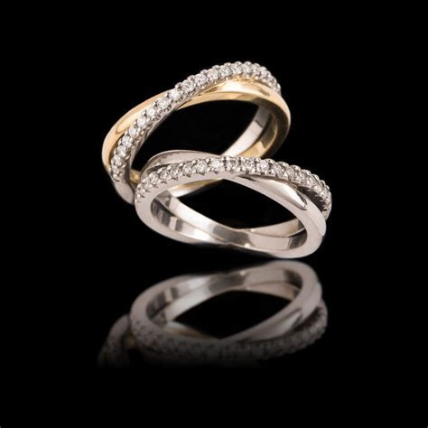 Diamond Crossover Wedding Bands from $3100   Carats Jewellery