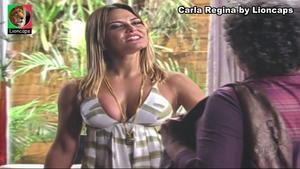 Carla Regina sensual na novela Bela a Feia