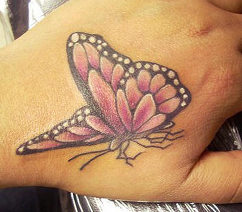 Cool Butterfly Hand Tattoo Design Tattoos Book 65000 Tattoos