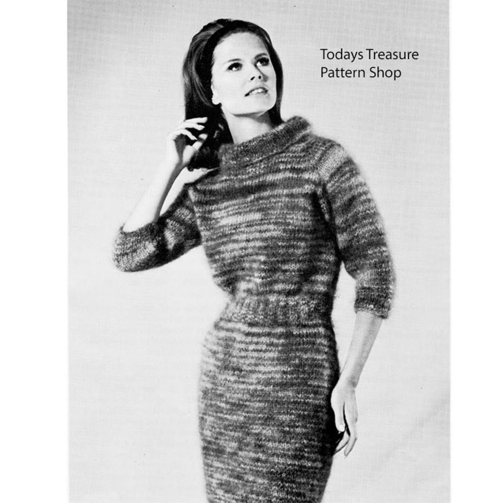 Knitting Pattern Mohair Dress