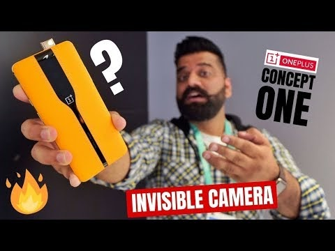 OnePlus Concept One Hands-on & First Look - Invisible Cameras Look Crazy In Hindi