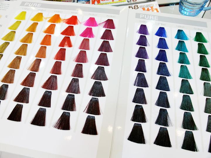 Hair Dye Colour Chart
