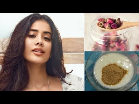 Janhvi kapoor shares Sridevi's special trick for beautiful skin & hair skin whitening home remedies