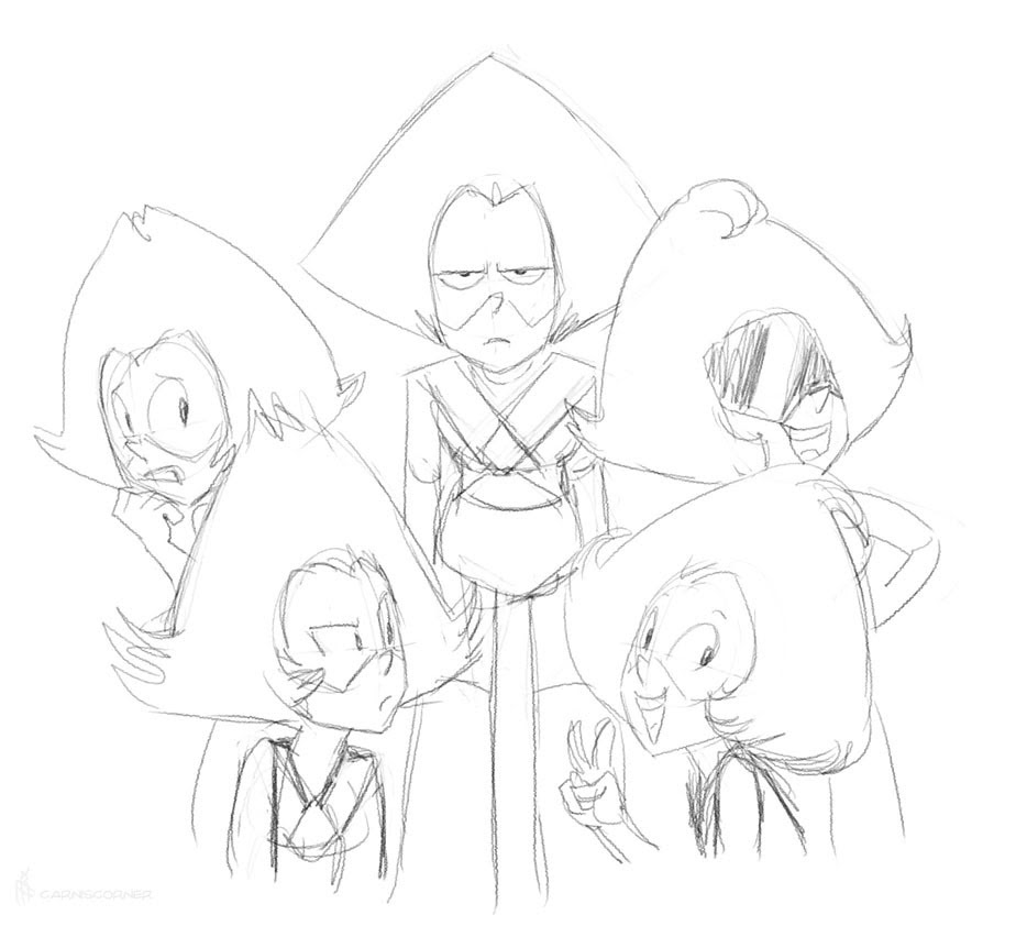 Oh yeah, seeing the newest (leaked) Steven Universe made me remember I've still got these guys. Maybe I should come up with facet names.