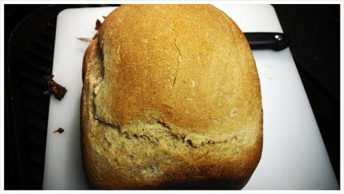 Nothing like a fresh loaf out of the breadmaker by Nannerlady