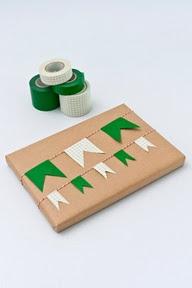 mini banderolas con washi tape