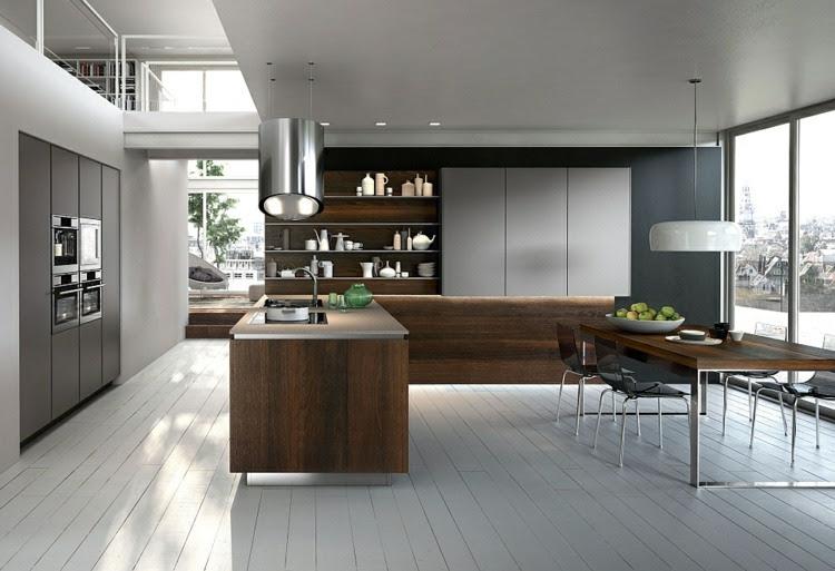 Moderne modulare Küche vereinigt Komfort und Ästhetik