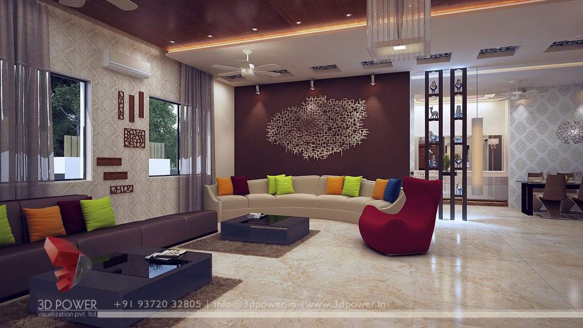 Modern Art Deco Style Drawing-room Interior Stock Photo ...