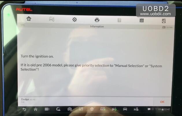 Autel MaxiIM608 Read PIN Code for Dodge Smart Key (3)