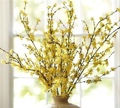 Faux Forsythia Branch   Pottery Barn   home decor ideas
