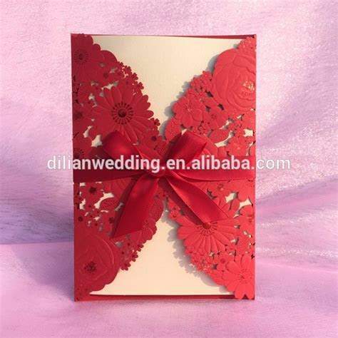 Hot Pink Royal Blue Wallet Shape Latest Wedding Card