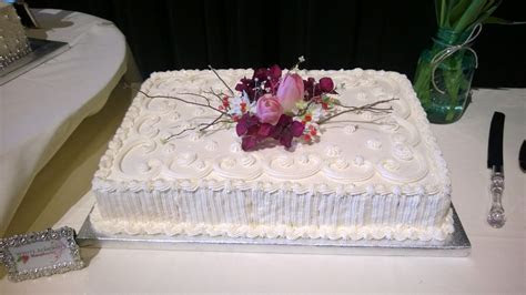 wedding sheet cake   For Goodness Cakes! by Lindsey