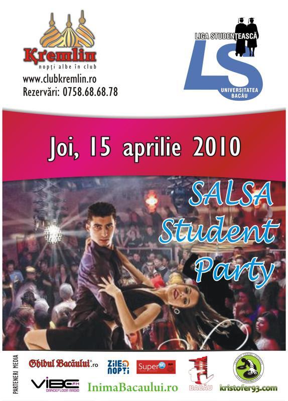 15 aprilie salsa student party