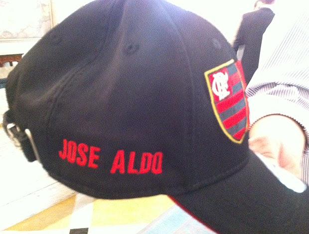 boné de José Aldo do Flamengo (Foto: Amanda Kestelman / Globoesporte.com)