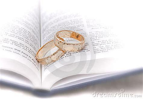 Wedding Rings On Bible Royalty Free Stock Photos   Image