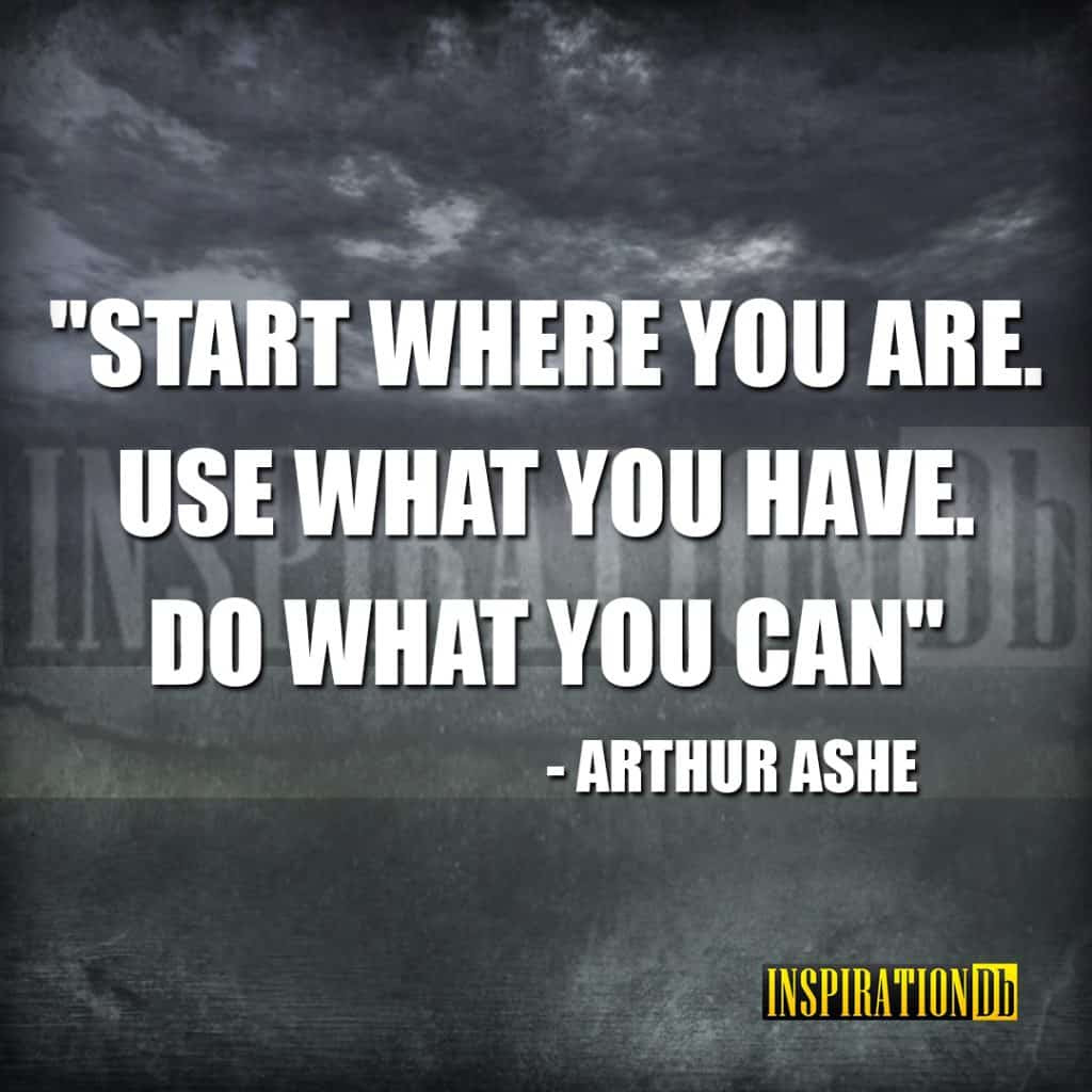 Arthur Ashe Quote Poster Inspirationdb