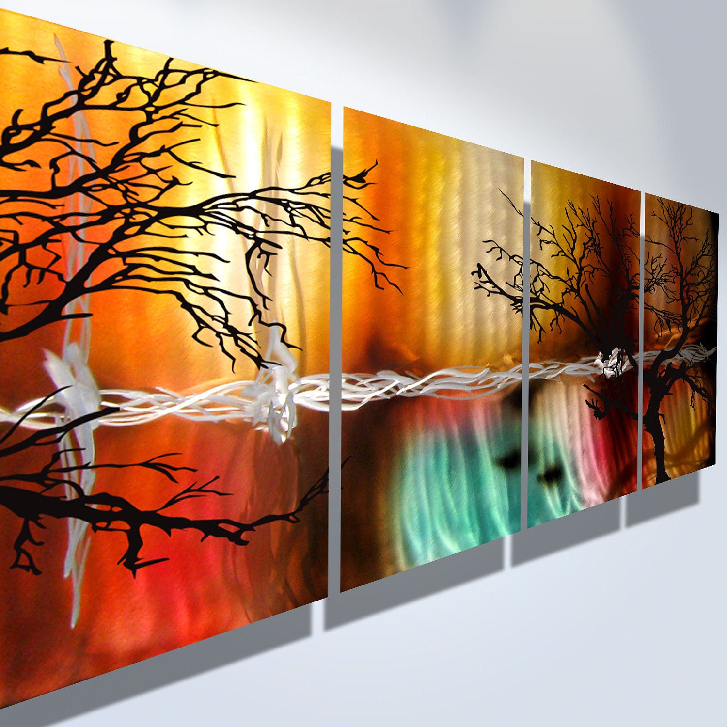 Metal Wall Art Decor Abstract Contemporary Modern by ...