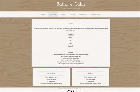 desain undangan  box simple wedding website template